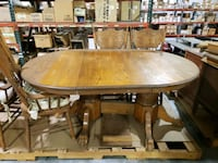 Solid Oak Dining Table and Chairs  Moonachie