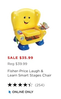Fisher Price Laugh and Learn Smart Stages Chair Wilmington, 19804