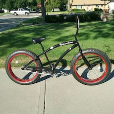 black and red fat bike