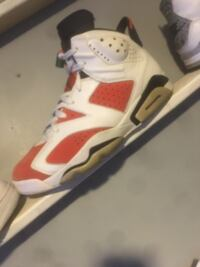 Unpaired white and red air jordan 6 shoe Savannah, 31415