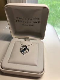 Heart necklace with two blue stones! Ashburn, 20148