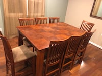 Dining table and 8 chairs  Westminster, 21157