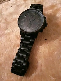 round black chronograph watch with link bracelet Abilene, 79603