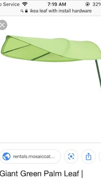 Giant wall mount green leaf