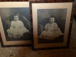 Very Old Framed Child Prints