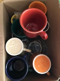 11 Fiesta coffee cups multi colors new condition.