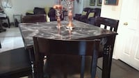 High standing black table/4 leather seat chairs Atlanta, 30349