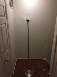2 identical floors lamps. Brushed metal. Great condition  Falls Church, 22043