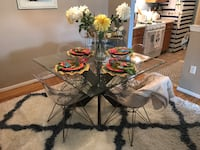Pier one glass table chairs not included Lakewood, 08701