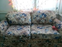 white and blue floral fabric loveseat Bismarck, 58501