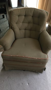 brown fabric sofa chair with ottoman Independence, 41051