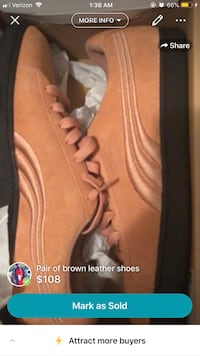 brown-and-black Puma Suede sneakers with box screenshot North Augusta, 29841