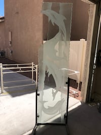 Dolphin Engraved Etched Glass Panel Las Vegas, 89141