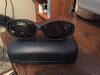black framed Ray-Ban wayfarer sunglasses 3483 km