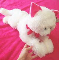 Life-size White and pink kitten soft toy Toronto, M2N 1H7