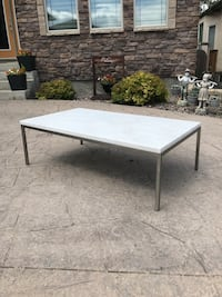 EQ3 White Marble Coffee Table w/ chips Winnipeg, R2M 0Z2