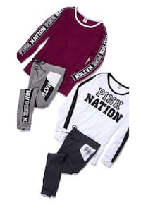 VS pink campus tee and leggings Houston, 77071