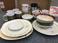 Lot of dishes and mugs