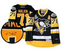 Signed Penguins Jersey 2017 Stanley Cup COA