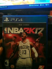 NBA 2K17 PS4 game case Cleveland, 44128