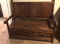 Solid wood bench with 2 storage drawers Suwanee, 30024