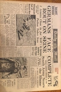 Daily mail Wednesday August 23 1944