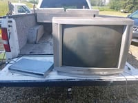 gray CRT TV with remote Sherwood Park, T8C 1A1
