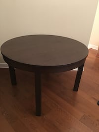 round brown wooden pedestal table Washington, 20037