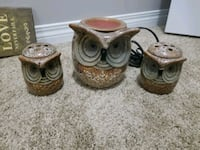 three brown-and-white ceramic vases Edmonton, T6X 0X8