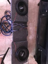 2 sundown audio competition speakers (tens). truck box with a Kenwood amp  Oxford, 36203