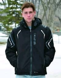 men's black zip-up jacket West Kelowna, V4T 1Y1