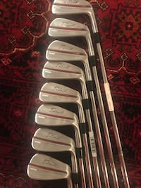 six pairs of assorted color golf clubs Arlington, 22201