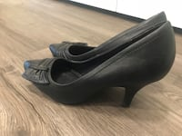 black leather peep toe heels Guelph, N1G