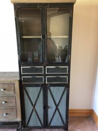 "Industrial chic cabinet. 2'x6'8"" used less than a year. Elkhorn, 68022"