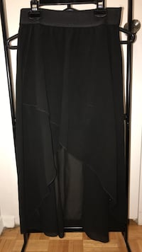 """Katie"" black high low skirt size S"