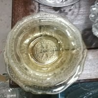 round clear cut glass bowl Mountain Top, 18707