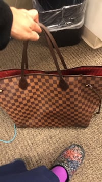 brown and black houndstooth tote bag Reston, 20190