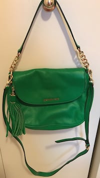 Green michael kors leather 2-way shoulder bag