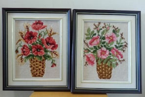 Hand Embroidery Wall Mounted Decor