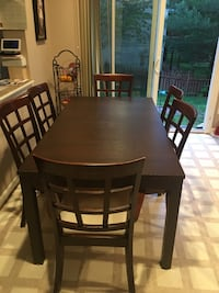 brown wooden dining table set Manassas, 20111