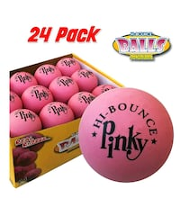 Premium Rubber Balls 24 Pack Pink NEW 1/3 PRICE