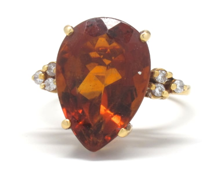 18K Antique Gold/Citrine Ring 50fafb2a-16a2-4116-be84-fc139e030949