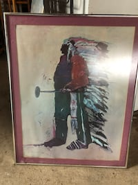 Fritz Scholder double signed poster Neptune City, 07753