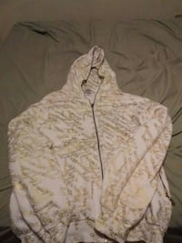 beige and gold-colored Adidas print full-zip hoodie jacket London, N6A 2T7