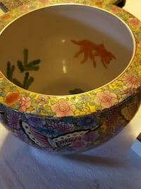 yellow pink and green floral ceramic bowl Hyattsville, 20782