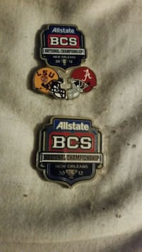 2012 national championship game lapel pins