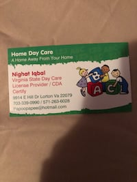 home daycare Lorton, 22079