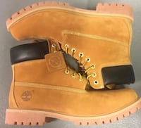 pair of brown Timberland work boots Herndon, 20171
