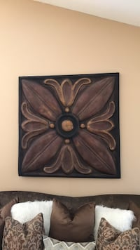 Bronze metal gold, rust, and a hint of burgundy wall decor New Orleans