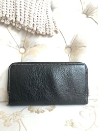 Black Alberta Di Canio Leather Wallet Bowie, 20720